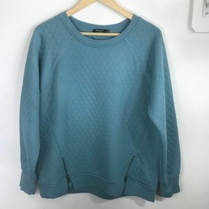 MAX JEANS | Quilted Sweatshirt L Teal